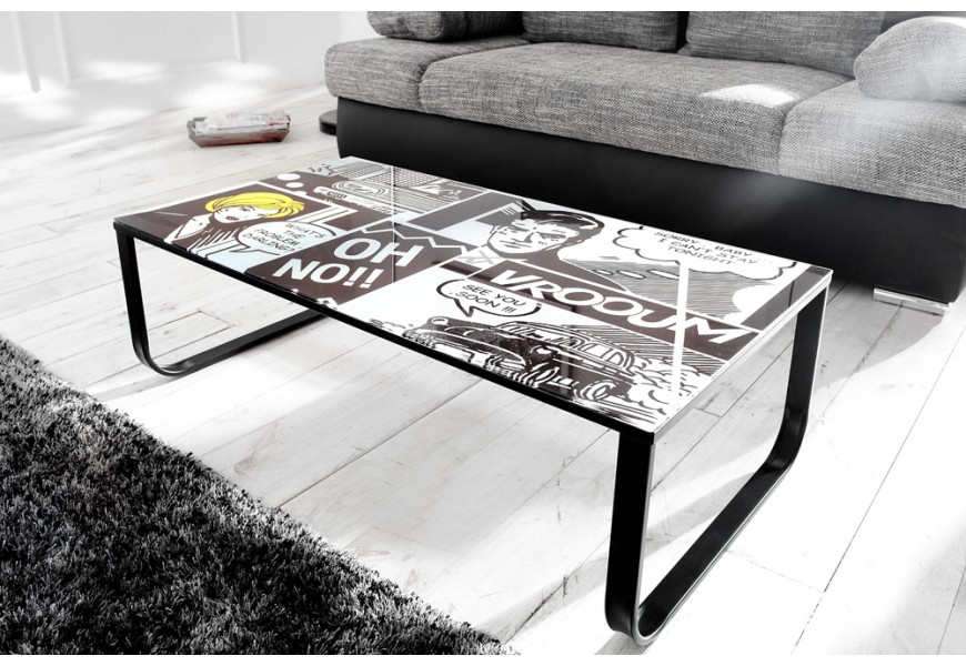 Couchtisch Pop Art Retro Comic 105cm/ 35692 -4575
